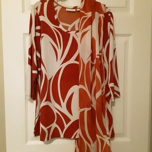 Susan Graver tunic with scarf